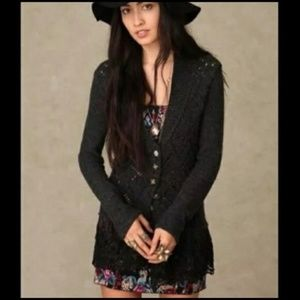 RARE Free People Wool Knit Cardigan XS